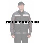 Костюм мужской Базис летний черный/серый