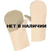 Рукавицы х/б (260г), наладонник брезент (480г)