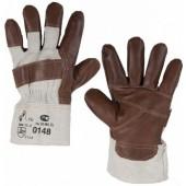 Перчатки комбинированные, ткань - кожа фурнитурная