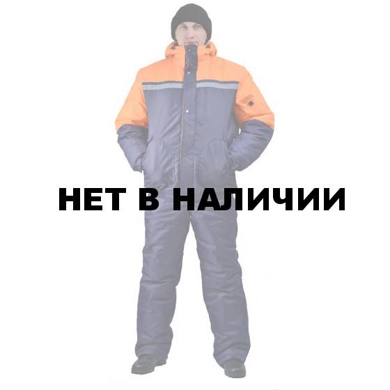 Костюм зимний СТИМ куртка/полукомб. цвет: т.синий/оранжевый