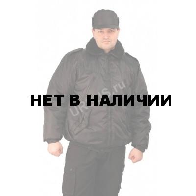 Куртка мужская на поясе Охрана зимняя черная