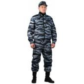 Костюм охранника мужской Контрол летний серый вихрь, ткань РИП-СТОП