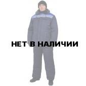 """Костюм мужской """"Строитель"""" зимний т-синий с васильковым"""