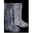 Сапоги ЭВА женские зимние Север (SARDONIX) -45С, с вкладным чулком и манжетой, черные