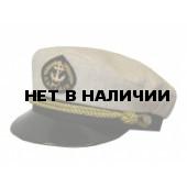 Капитанка 20-2 лён, бежевая, с регулировкой, витой золотой шнур