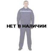 Костюм мужской Лидер летний с полукомбинезоном темно-синий с васильковым