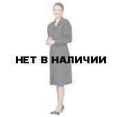 Халат женский диагоналевый черный