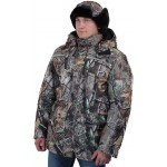 Куртка мужская Вепрь зимняя, камуфляж алова Смешанный лес подкладка флис 180г