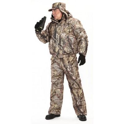 Куртка мужская Вихрь зимняя, камуфляж алова Осенний лес подкл 100% п/э