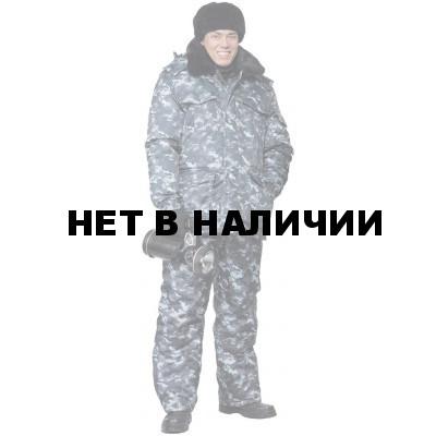 Куртка мужская Охрана зимняя, камуфляж город