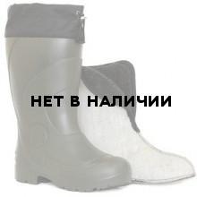 """Сапоги ЭВА мужские зимние """"Барс"""" -50С, с 4-слойным чулком и манжетой, оливковые"""