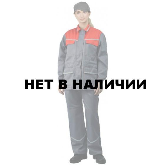 """Костюм женский """"Передовик"""" летний серый с красным"""