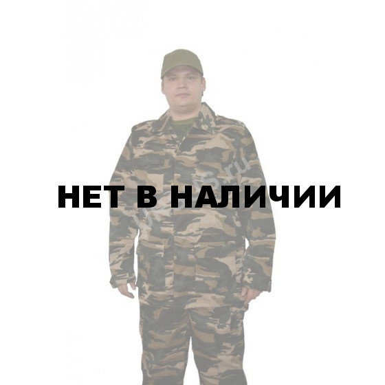 Костюм мужской Захват, камуфляж, ткань Грета Бежевый вихрь