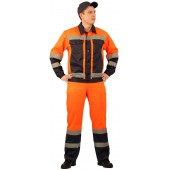 Костюм мужской Протект-Люкс летний, сигнальный оранжевый с синим
