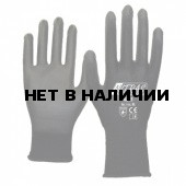 Перчатки трикотажные нейлоновые с полиуретановым покрытием, черные (Nitras) арт.6215