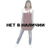 """Фартук-сарафан """"Цветок"""" бордовый с белым"""