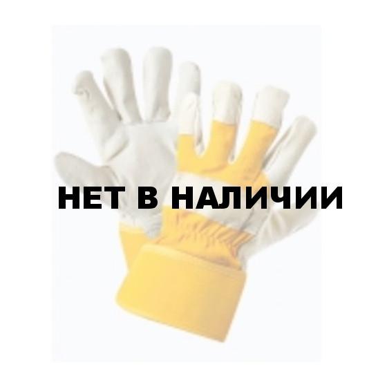 Перчатки комбинированные, ткань - кожа люкс, тип Юкон