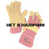 Перчатки комбинированные, ткань - спилок утепленные люкс, тип Русские Львы
