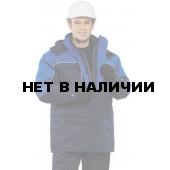 """Куртка мужская """"Фристайл"""" зимняя т-синяя с васильковым"""
