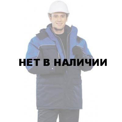 Куртка мужская Фристайл зимняя т-синяя с васильковым