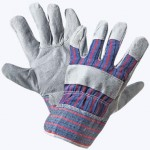 Перчатки комбинированные, ткань - спилок, тип Ангара