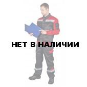 Костюм летний Баланс муж. с брюками (черн.+красн.+с/о кант+СОП)