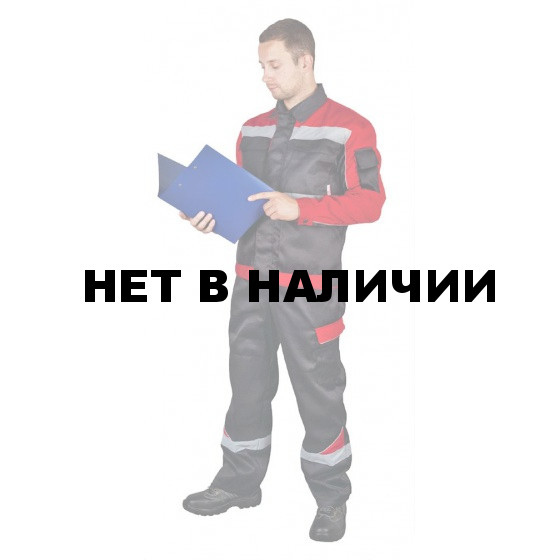 "Костюм летний ""Баланс"" муж. с брюками (черн.+красн.+с/о кант+СОП)"