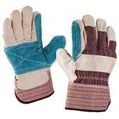 """Перчатки комбинированные, ткань - спилок, усиленные, """"Докер"""""""