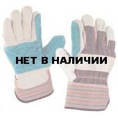 Перчатки комбинированные, ткань - спилок, усиленные,