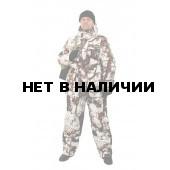 Костюм мужской Буран зимний, камуфляж, ткань Алова Сосновая шишка