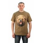 Футболка Медведь цвет хаки. Мир футболок