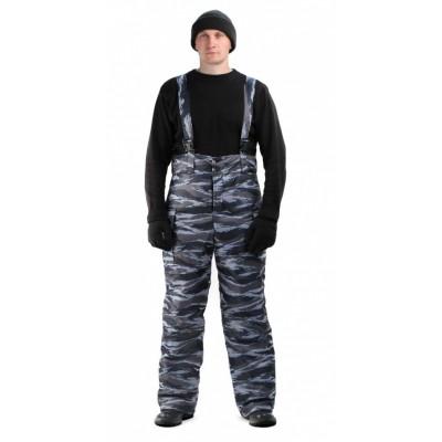 Брюки мужские Охрана зимние, камуфляж серо-голубой вихрь
