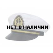 Адмиралка158-10 белая, с регулировкой, золотой шнур