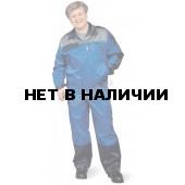Костюм мужской Ресурс васильковый с темно-синим и светло-серым