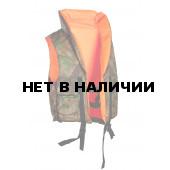 Жилет спасательный ПР, двусторонний, цвет оранжевый/камуфляж, ткань Оксфорд 1000D,
