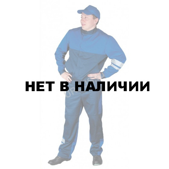 Костюм летний Сапфир мужской (синий с васильковым)