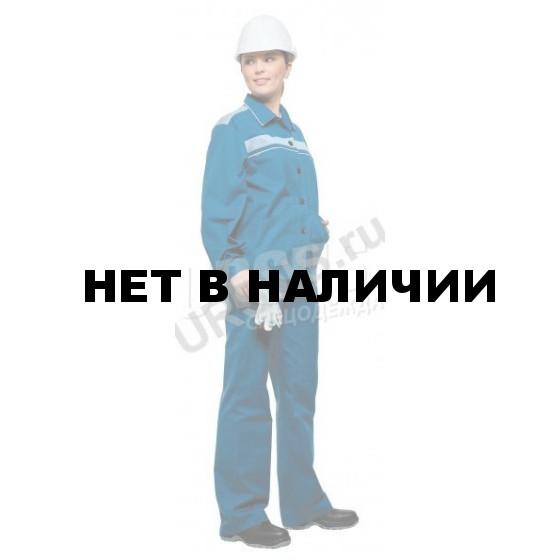 Костюм женский Актуал летний голубой со светло-серым 100% хлопок