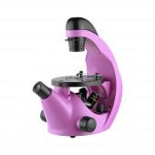Микроскоп школьный Эврика 40х-320х инвертированный (аметист)
