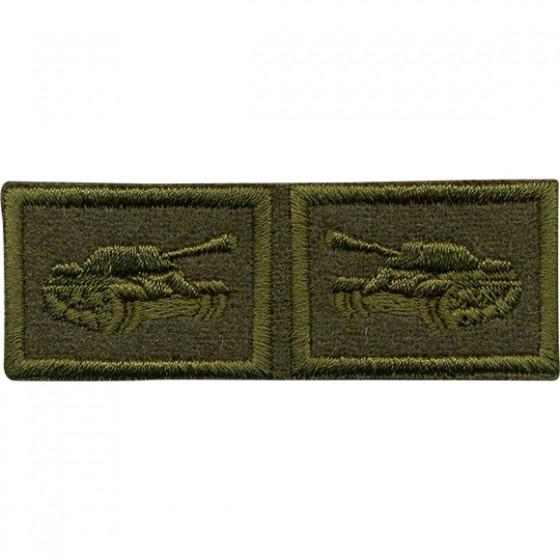Эмблема петличная Танковые войска нового образца полевая вышивка