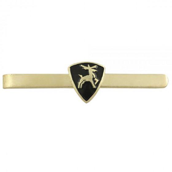 Зажим для галстука с эмблемой Олень металл