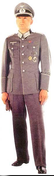 Форма офицеров Сухопутных Войск  Вермахта 1943 г