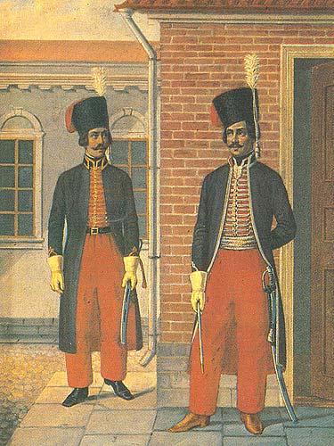 Форма русской армии 1796-1801 гг.