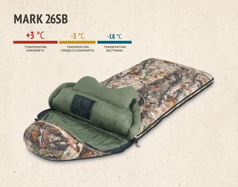 Мешок спальный MARK 26SB спальник-одеяло, realtree apg hd, 725, Постельные принадлежности - арт. 281850397