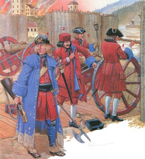 Униформа артиллерии Петра I