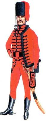 Униформа армейских гусар 1741-1788 годов