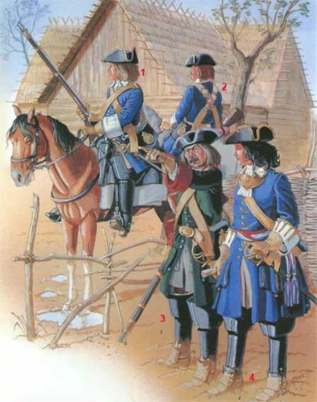 Униформа кавалерии Петра I