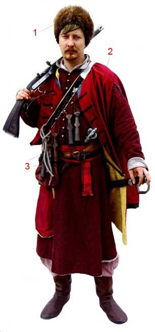 Униформа донских казаков XVII века
