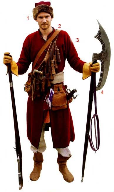Униформа российских стрельцов XVII века