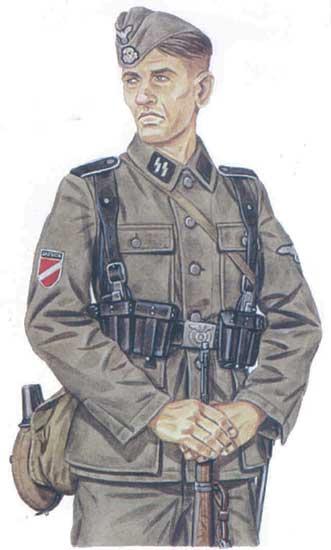Униформа 15-й ваффен-гренадерской дивизии СС