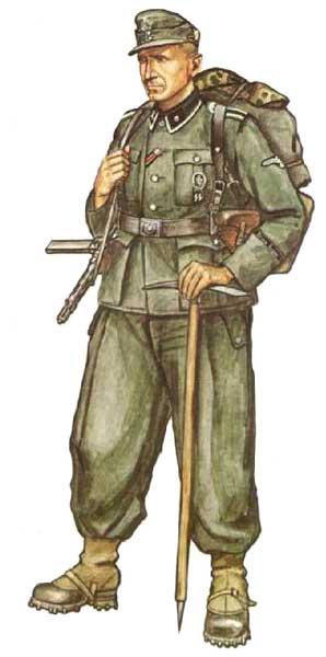 Униформа 7 добровольческой горнострелковой дивизии СС